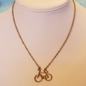 """VTG Circa 1972 Bicycle Necklace GLP (GoldPlate)16"""""""